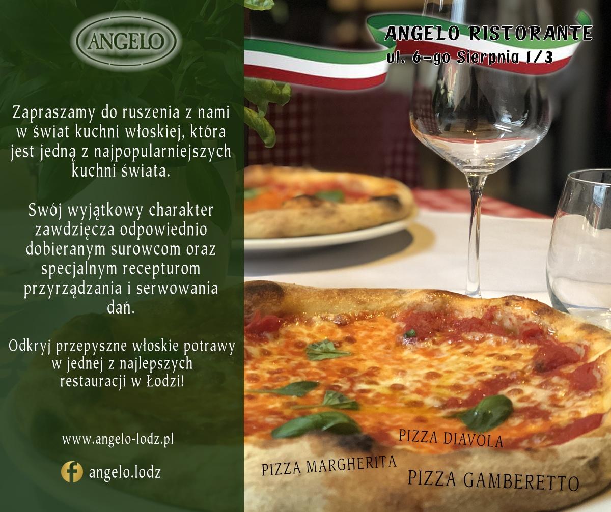 W menu Angelo Ristorante znajdziesz smakowite pizze przygotowywane według tradycyjnych włoskich przepisów. Ale to nie wszystko! Nasi kucharze chętnie przygotują dla Ciebie wiele innych dań kuchni włoskiej. Gwarantujemy, że wszystkie dania w naszej restauracji przygotowywane są z najwyższej jakości składników.